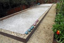 Bocce Ball Court Mediterranean Landscaping Huettl Landscape Architecture Walnut Creek, CA