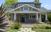 Craftsman, Front, Porch, Swing, Flax Front Porch Landscaping Network Calimesa, CA