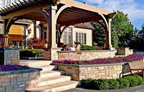 Large Solid-Roof Pergola Structure Cost