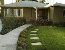 Contemporary Ranch Front Yard LandscapeFront Yard LandscapingLisa Cox Landscape DesignSolvang, CA