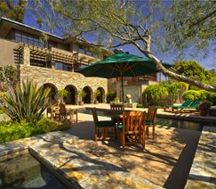 Tuscan, Pool, Fountain, Green, Arches, Furniture Backyard Landscaping Landscaping Network Calimesa, CA