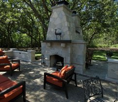 Double Outdoor Fireplace