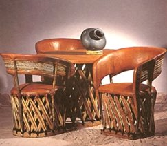 equipal furniture made of cedar and leather