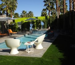 desert outdoor living space