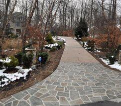 resurfaced concrete driveway