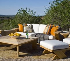 desert patio furniture with UV resistant fabric