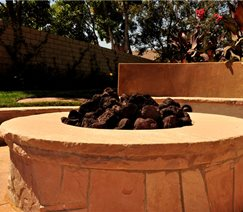 fire pit is great for keeping warm on chilly desert nights. The ...