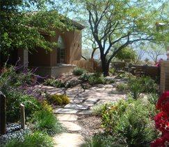 Garden Walkway Walkway and Path Casa Serena Landscape Designs LLC Las Cruces, NM