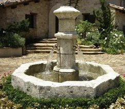 French Courtyard Style Fountain