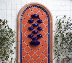 small space wall fountain