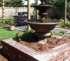 Tiered Fountain, Brick Planter Pond and Waterfall Angelo's Lawn-Scape Of Louisiana Inc Baton Rouge, LA