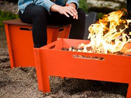 Aluminum Fire Pit Groovebox Modern Furniture Savannah, GA