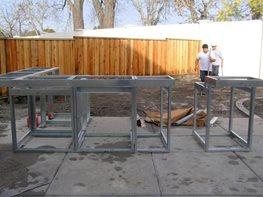 steel outdoor kitchen frames