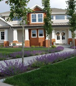 Front, Walkway, Curved, Concrete, Purple Ag-Trac Enterprises Logan, UT