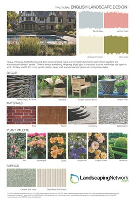 Landscape Design Sheet English Landscape ,