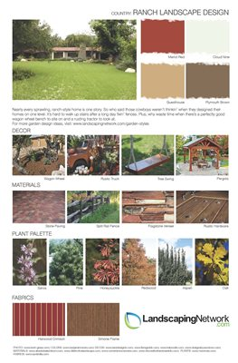 Landscape Design Sheet Ranch Landscape ,
