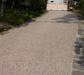 Driveway, Exposed Aggregate Landscaping Network Calimesa, CA