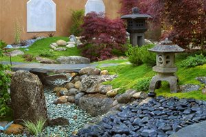 Asian Landscaping Grace Design Associates Santa Barbara, CA