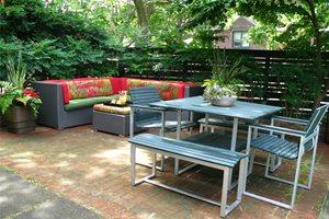 City Garden Patio Backyard Landscaping Livable Landscapes Wyndmoor, PA