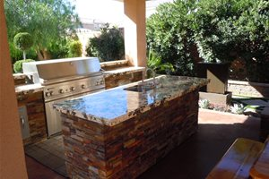 Granite Countertops, Grill Backyard Landscaping Newtex Landscape, Inc. Henderson, NV
