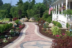 Paver Compass Design Backyard Landscaping Lehigh Lawn & Landscaping Poughkeepsie, NY