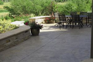 Stamped Concrete, Concrete Patio Backyard Landscaping J&S Landscape Longmont, CO