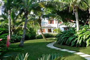 Tropical Walkway Backyard Landscaping Craig Reynolds Landscape Architecture Key West, FL
