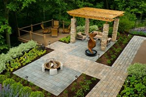Wheelchair Accessible Backyard Backyard Landscaping The Cornerstone Landscape Group Fort Wayne, IN