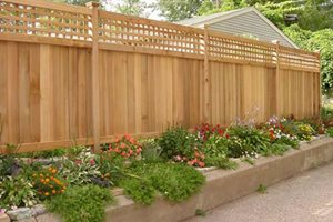 Attirant Wood Fence, Privacy Fence Backyard Landscaping The Fence, Deck U0026 Patio  Company Houston, Fence Design Ideas