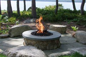Circular Fire Pit Fire Pit Belknap Landscape Co., Inc. Gilford, NH