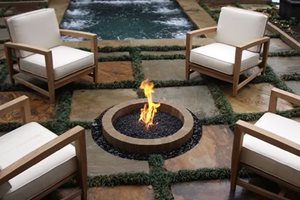 In Ground Fire Pit, Natural Gas Fire Pit Fire Pit Bennett Design & Landscape Atlanta, GA