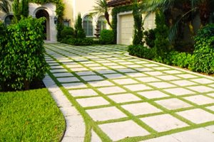 Driveway Design Ideas, Driveway Landscaping Flagstone Tucker Landscape Design Boca Raton, FL