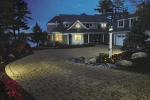 Driveway Lighting Flagstone Belknap Landscape Co., Inc. Gilford, NH
