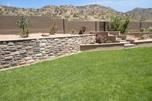 Manufactured Retaining Wall, Desert Grass Flagstone WaterQuest, Inc. Albuquerque, NM