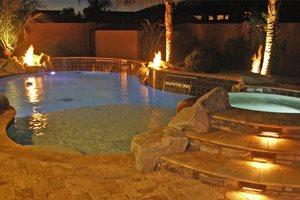 Pool Lights Flagstone Alexon Design Group Gilbert, AZ