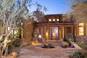 Front Entry Xeriscaping Front Yard Landscaping Boxhill Landscape Design Tucson, AZ