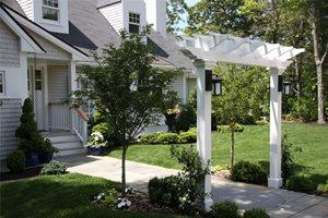 Front Yard Arbor Front Yard Landscaping Elaine M. Johnson Landscape Design Centerville, MA