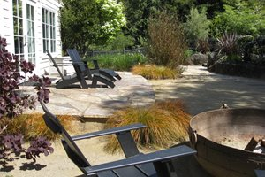 Three Rivers Flagstone Front Yard Landscaping Dig Your Garden Landscape Design San Anselmo, CA