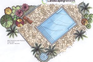 Rectangular Pool Landscape Drawings Landscaping Network Calimesa, CA