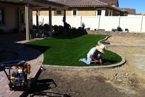Installing Turf Lighting Aloha Landscape Murrieta, CA