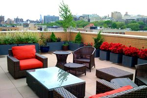 Roof Terrace New York Landscaping Amber Freda Home & Garden Design New York, NY