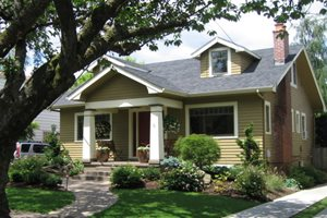 Craftsman Curb Appeal Oregon Landscaping Harmony Design Northwest Portland, OR
