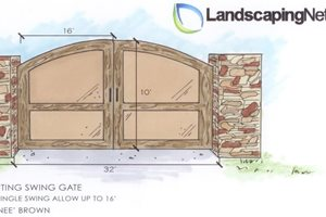 Entry Gate Drawing Outdoor Kitchen Landscaping Network Calimesa, CA