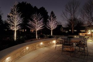 Patio, Lighting, Seat Wall Patio McKay Landscape Lighting Omaha, NE