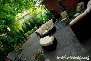 Suburban Garden, Courtyard Garden, Lexington Garden Paving Inside Out Design, LLC Frankfort, KY