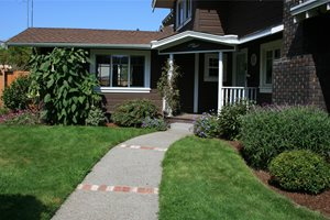 Front Entry Walkway Retaining and Landscape Wall Genevieve Schmidt Landscape Design and Fine Maintenance Arcata, CA
