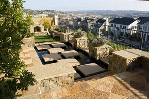 Small Backyard Design Retaining and Landscape Wall Total Outdoors Landscaping Carlsbad, CA