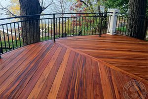 Tigerwood Deck, Tropical Decking Retaining and Landscape Wall Advantage Lumber Buffalo, NY