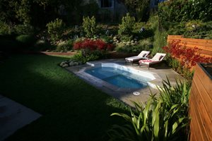 Backyard Spool Lisa Cox Landscape Design Solvang, CA
