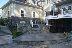Circular Outdoor Kitchen Neave Group Outdoor Solutions Wappingers Falls, NY